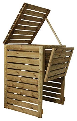 Komposter DeLux aus Holz 80 x 80 x 120 cm - ca. 750 Liter