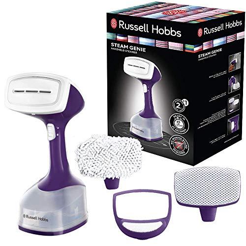 Russell Hobbs Steam Genie 25600-56 - Plancha de vapor vertical, cepillo de mano, incluye 3 accesorios...