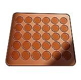 fablcrew niedliche Runde Schokolade Makronen Form Cookie Seife Zucker Fondant Backform für Küche 30Löcher