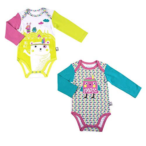 f5ca4f364a821 Lote de 2 bodies bebé niña manga larga Hihi – Talla – 36 meses (98