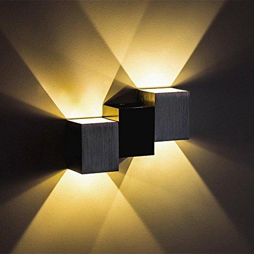 OOFAY LIGHT® Indoor Wandleuchte Dreibettzimmer LED Lampe modernes Design Küche Wohnzimmer Esszimmer (3 Cube, Warm White) , A