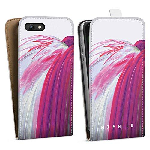 Apple iPhone X Silikon Hülle Case Schutzhülle HIEN LE Vogel Fashion Downflip Tasche weiß
