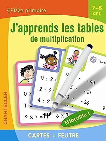 Cartes + feutre - J'apprends les tables de multiplication (7-8 a.)