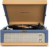 Crosley Dansette Junior Tragbarer Plattenspieler im Retro Design mit Zwei Drehgeschwindigkeiten und Eingebauten Stereolautsprechern (mit 3-pin UK Netzstecker) - Blau/Beige