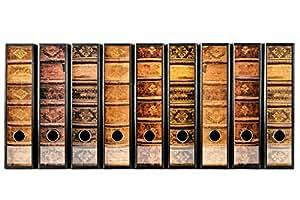 codiarts Set 9pezzi larghezza Etichette per raccoglitori–vecchi libri in pelle volumi Vintage–autoadesivo (raccoglitori di Sticker)