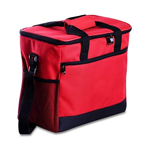 Kühltasche, Cozyswan Picknicktasche Thermal Mittagessen Tasche / Kühlbox 16 L Unisex Outdoor Rot - Mittagessen-tasche Sport