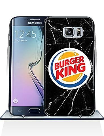 Téléphone Portable pour Samsung Galaxy S6 Edge Plus Burger King Unique Design, Burger King Logo&Brand Samsung S6 Edge Plus Coque Case Housse Étui résistant aux rayures PC Back Protector Gift pour Garçons