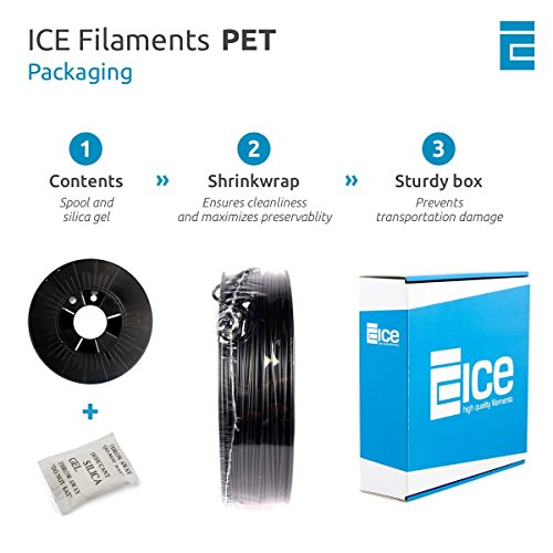 ICE FILAMENTS ICEFIL1PET154 PET Filament, 1,75 mm, 0,75 kg, Transparent Romantic Red - 5