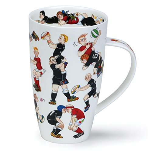 DUNOON Fine Bone China Tasse?Rugby Tackle?Made in England England Bone China