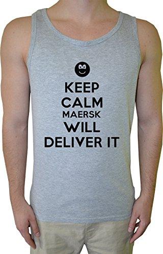 keep-calm-maersk-will-deliver-it-uomo-canotta-t-shirt-grigio-cotone-mens-tank-t-shirt-grey