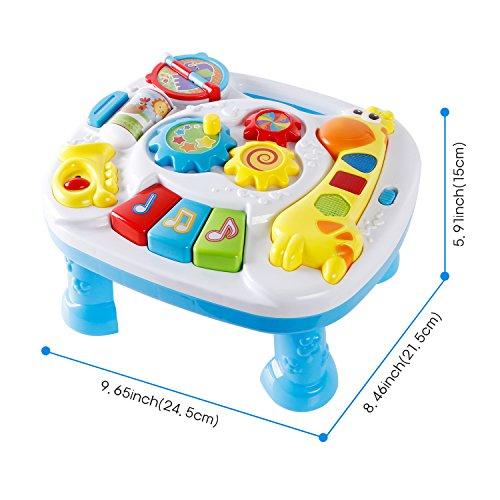 SGILE Música Mesa Juguete Para Niños/Bebés, Juguete Educativo Divertido,  Multi Sonido Modo   Juguetes Blandos