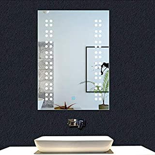 Aica 500x700mm Bathroom LED Mirror with light, Touch Control Sensor,Demister and Wall Mounted