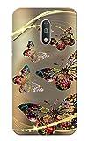 Moto G4 Plus, Butterflies Golden Brown Slim Fit Hard Case Cover/Back Cover for Moto G Plus 4th Gen/Moto G4 Plus