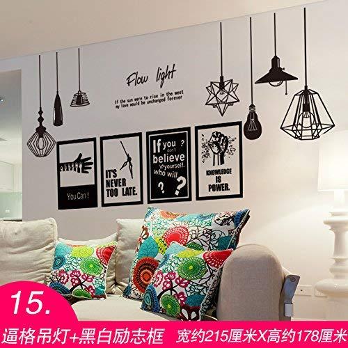 heime und warme Dekoration Wand Aufkleber Plakate der Schlafzimmer Tapete Wand Papier selbstklebend, gezwungen, die Kronleuchter+ schwarz-weiß Zwischenablage, ()