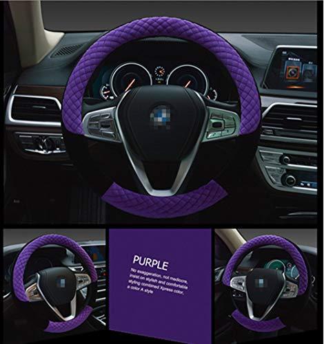 Winter 38cm Premium weiches kurzes Fell Auto Lenkrad Abdeckung mit hoher Dichte warmen Plüsch Lenkrad Protector Abdeckung lila