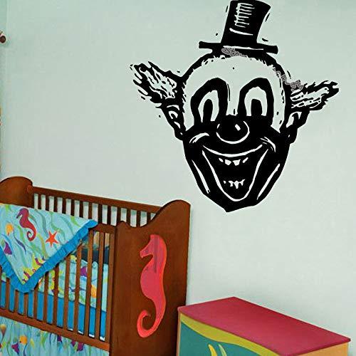 zqyjhkou Clown Kopf Lachen Laut Design Wandtattoos Für Kinderzimmer Selbstklebende Wohnkultur Schöne Kindergarten Geschenk Aufkleber Wandbild Ea109 42x42 cm -