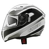 Caberg Duke Booster - Motorrad-Helm - Klapphelm - Schwarz/Weiß - L