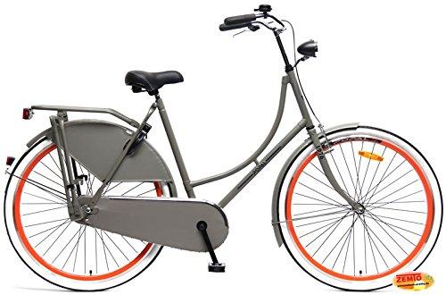 Plezier Damen Hollandrad 28 Zoll Grau-Orange 57 cm