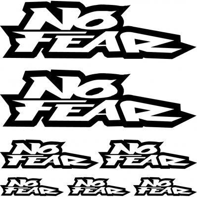 Sticker pegatina adhesivo ,, no fear 1,,,autocollants moto casque Stickers Aufkleber (weiß)
