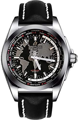 Breitling Galactic Unitime wb3510u4-bd94–435x acciaio automatico orologio da uomo