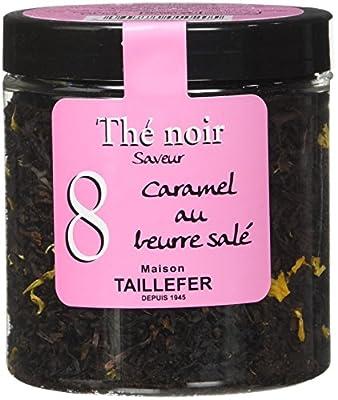 Maison Taillefer Thé Noir Caramel Beurre Salé Pot 60 g - Lot de 4