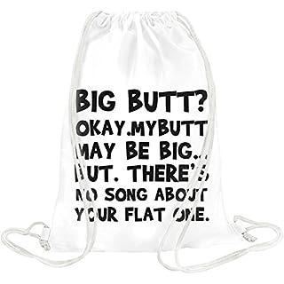 Big Butt Funny Slogan Drawstring bag