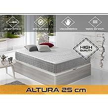 Dormi Premium Delux 25 - Colchón Viscoelástico, 150 x 190 x 25 cm, Algodón