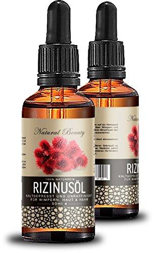 Rizinusöl für lange dichte Wimpern Augenbrauen Haar & Haut Castor oil 50ml 100% Naturrein