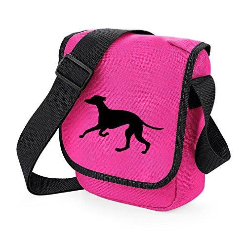 Bag Pixie - Borsa a tracolla unisex adulti Black Hound Pink Bag