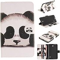"""Skytar Funda para Tablet galaxy tab4 7"""",Case para Samsung Tab 4 7.0,Folio Wallet Case cover Carcasa de PU Cuero para Samsung Galaxy Tab 4 7.0 Pulgadas SM-T230 T231 T235 Tablet Protección,Panda"""