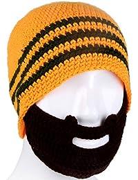 LSERVER-Cappello con Maschera Inverno Unisex Berretto Cappello  Passamontagna a maglia con BARBA finta Bear 8b5a1a4a2220