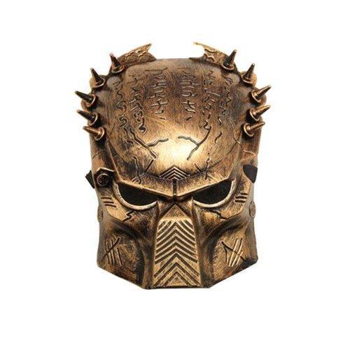 Alien Vs Predator: Predator Warrior Movie Costume Mask (Gold) by E-map party favors mask