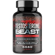 Testosterone Beast | Hardcore Testosterone Booster for Men - High in Zinc which contributes to Normal Testosterone Levels | 120 Capsules, 30 Servings