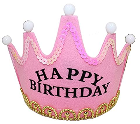 Party Crowns Glittering Flash Birthday Christmas Festival Party Hats Flash King Crowns Princess Crowns Party Supplies for Kids and Adults -