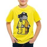 style3 Brick Bad T-Shirt für Kinder white meth walter crystal breaking tv serie, Farbe:Gelb;Größe:128