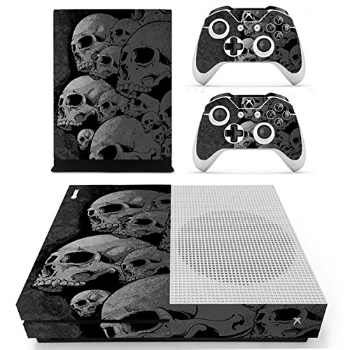 Morbuy Xbox One S Skin Vinly Pegatinas Protective Consola Sticker Decal + 2 Controlador Skins Set (Skulls)