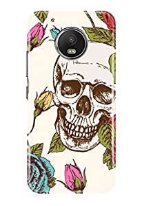 Noise Moto G5 Plus Designer Printed Case / Motorola Moto G5 Plus Cover, for G5 Plus / Moto G5 Plus / Patterns & Ethnic / Skull With Roses Design - (GD-360)