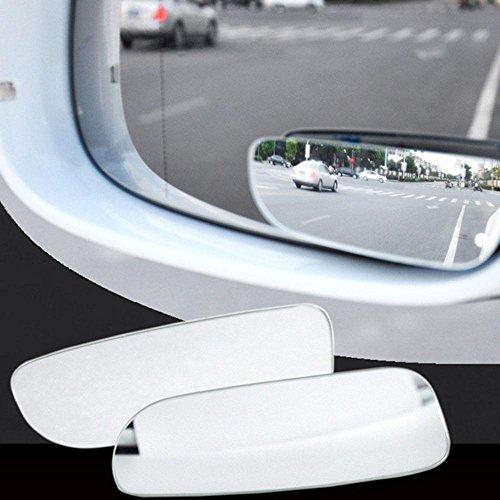 AOLVO no-blind-Spot Rückspiegel, Mini Blind Spot Spiegel 360° verstellbar rahmenlose Auto Stick auf Weitwinkel Spiegel für alle Universal Fahrzeuge 2Stück (Slim) (Blinds Mini)