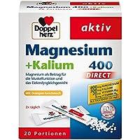 Doppelherz Magnesium 400 + Kalium DIRECT – Für die normale Muskelfunktion und das normale Nervensystem – 1 x 20 Portionen Micro-Pellets
