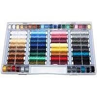 Alzetta Surtido de 64 hilos de colores (100% poliéster, aptos para máquina de coser)