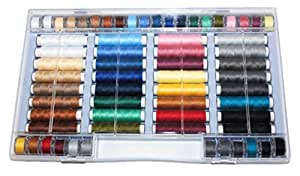 Fils à coudre lot de 64pièces Syngarn 100% polyester Machine à coudre fil