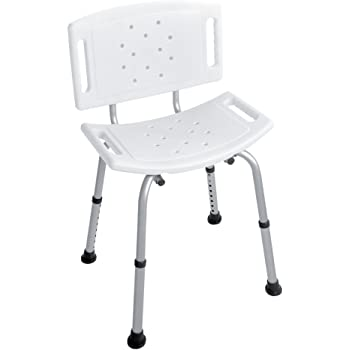 FERIDRAS Comfort Sedia Doccia, Metallo, plastica, Silver/Cromo, 13x38x60 cm