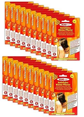 20 Stück Natürliche Wärmepflaster | Rückenpflaster Schmerzpflaster Rücken Nacken (Voltaren Salbe)