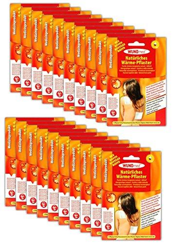 20 Stück Natürliche Wärmepflaster | Rückenpflaster Schmerzpflaster Rücken Nacken