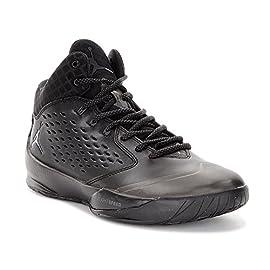 Nike – Nike Jordan Rising High Scarpe da Basket Nere Pelle 768931 507a4d96d99