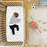 #2: Rabitat 100% Organic Cotton Fitted Cradle Sheet. Bedsheet for Cribs/Cots (Birds)
