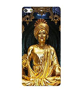 PrintVisa Lord Swami Narayan 3D Hard Polycarbonate Designer Back Case Cover for Gionee Elife S7