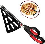 flintronic Acciaio Inox Pizza Scissors, Forbici Taglia con Base, Forbice Taglia-Pizza, Sostituire Pizza Cutter, Multifunzionale, Tagliare Il Barbecue(Rosso)