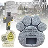 Liamostee P AW Print Pet Memorial Stone Puppy Tombstone Dog Cats Grave Photo Frame