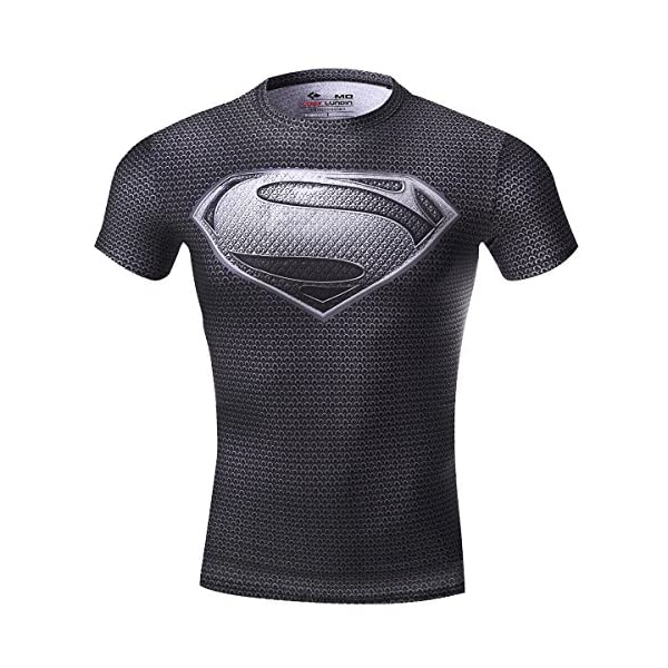 Cody Lundin Men's Sonic Compression Shirt Sports and Fitness 3D Superhero  T-Shirt